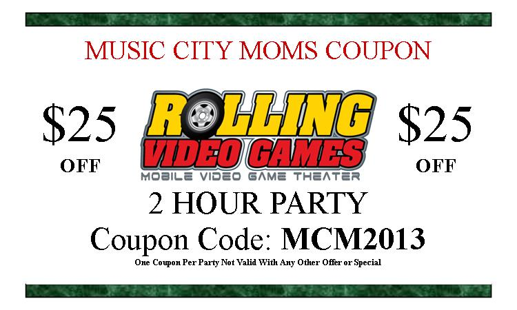 rolling video games coupon